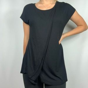 GAIAM Black Open Back Yoga Short Sleeve Shirt